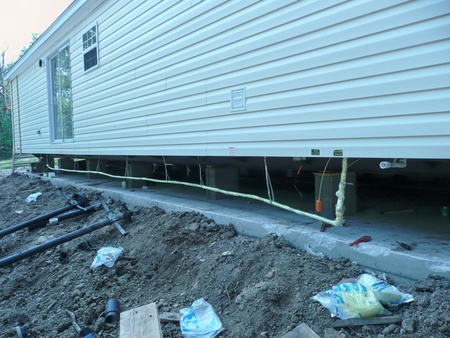 Double-wide: protecting the water line from freezing